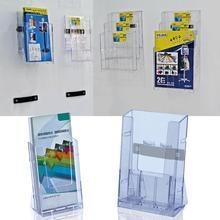 Офисный прозрачный держатель для карты дисплей прозрачный Акриловый Бизнес брошюра настольная подставка для брошюр дисплей бумажный держатель