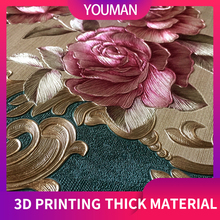 купить Youman wallpapers 3D wallpaper roll Embossed Europe style nordic 3D sculpture flower wallcovering modern luxury damask. по цене 1733.14 рублей