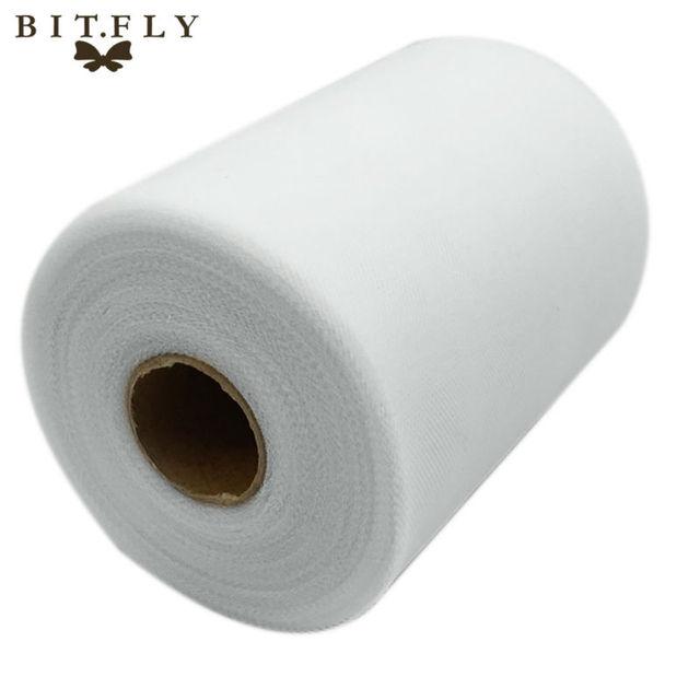 C белый Цвет 6''X 100 ярдов Matt Тюль рулонная катушка 6 дюймов х 100 ярдов (6 дюймов x 300ft) Туту свадебный подарок вечерние лук 20D