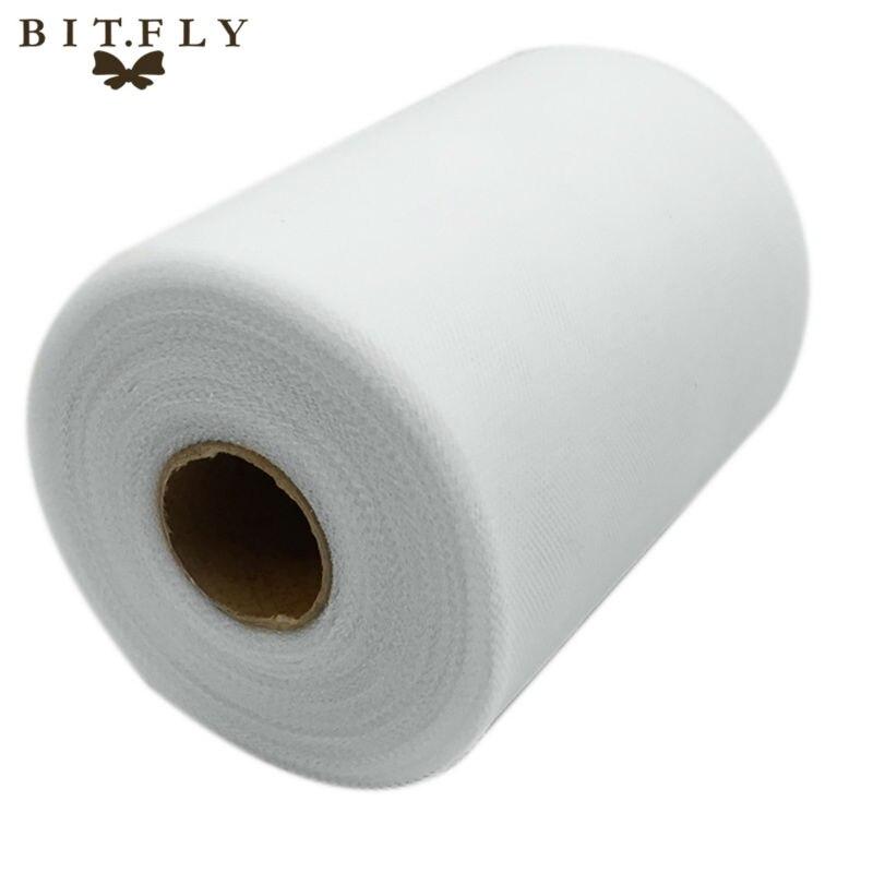 C Weiß Farbe 6''X 100 HOF Matt TÜLL Rolle Spool 6 zoll x 100 hof (6 zoll x 300ft) tutu Hochzeit Geschenk Party Bogen 20D