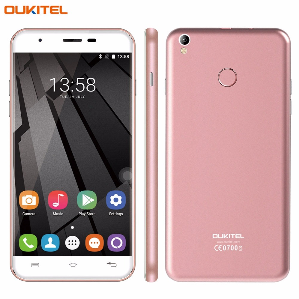 bilder für 4G Original Smartphone Oukitel U7 Plus 2 GB + 16 GB Fingerprint Identification 5,5 ''2.5D Poliert Android 6.0 MTK6737 Quad Core