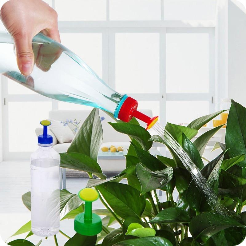4 шт., портативный пластиковый домашний горшок, бутылка для полива, сопло для спринклера, сопло для растений, цветов, инструменты для полива, подходящие 3 см, бутылка для воды LYQ