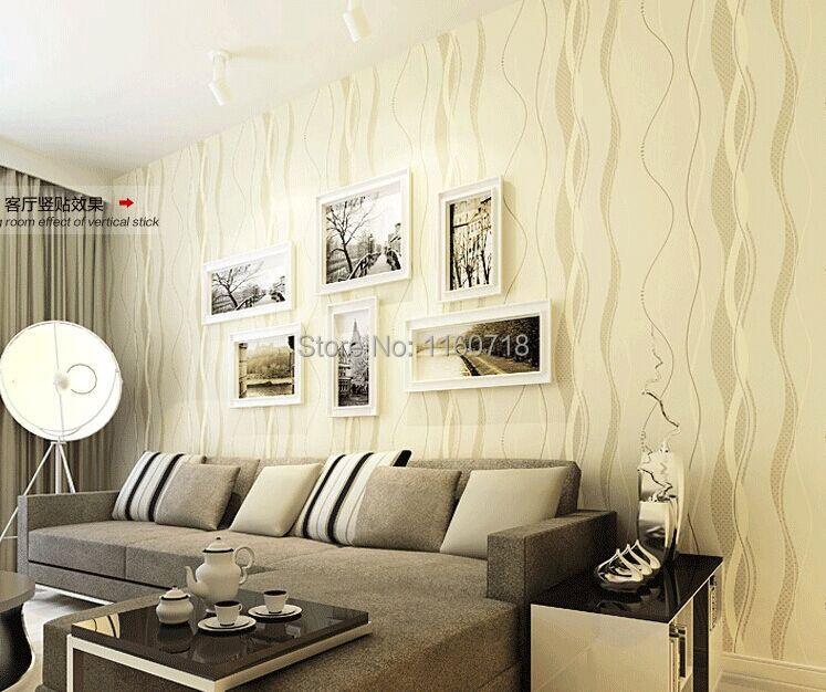Tapete wohnzimmer beige  Neue Ankunft Modernisieren Vlies Tapeten Wohnzimmer Hintergrund ...