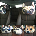 Newest 2016 3D Printed Dog face Car Headrest Neck Rest Auto Neck Safety Cushion/ Car Neck Support Headrest Hot Sale