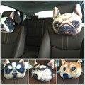Mais novo 2016 3D Impresso Cão rosto Resto Pescoço Encosto de Cabeça Do Carro Auto Pescoço Almofada de Segurança/Suporte Encosto de cabeça do Carro Pescoço Quente venda