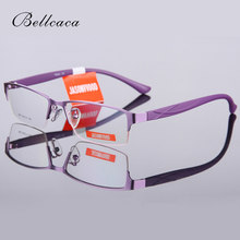 Bellcaca Spectacle Frame Women Eyeglasses Computer Myopia Optical Prescription Glasses Frame For Female Clear Lens Eyewear BC613(China)