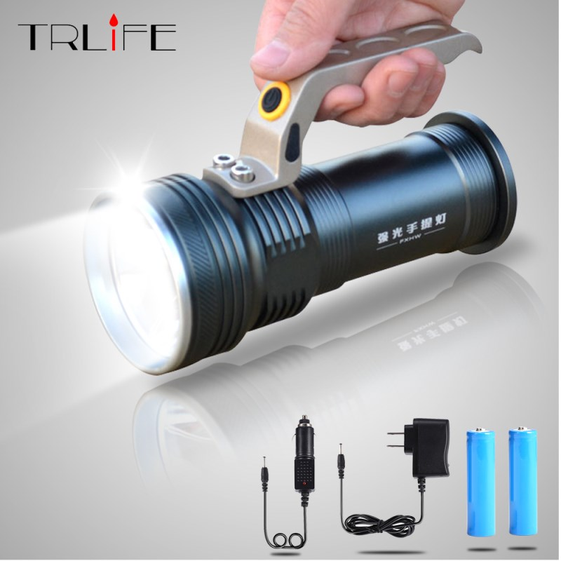 500M 8000 Lumens Long range Portable Searchlight LED Flashlight  R5 LED Waterproof Rechargeable Fishing Camping LED light500M 8000 Lumens Long range Portable Searchlight LED Flashlight  R5 LED Waterproof Rechargeable Fishing Camping LED light