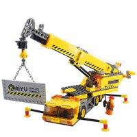 TQ KAZI 380 PCS City Figures Engineering Crane Building Block Bricks Set Excavator Model Kids Toys