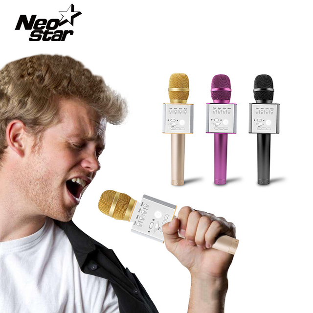 Wireless Bluetooth Microphone Karaoke Echo KTV Singing Record Professional Player For Computer PC iOS Android Phone For iPhone