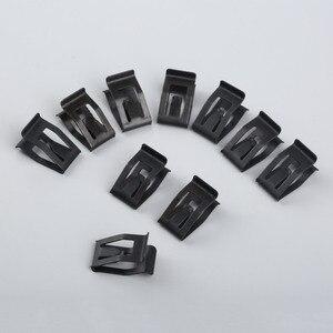 Image 5 - 10 sztuk samochodów przednia konsola Dash wykończenie deski rozdzielczej metalowy uchwyt czarny nit zaczep mocujący pasuje do ford mazda Audi Toyota