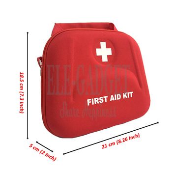 High Quality Home Portable Waterproof First Aid Kit Red EVA Bag For Family Or Travel Emergency Medical Treatment 2