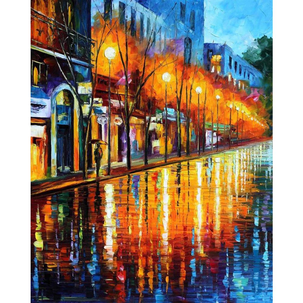 Contemporary art early morning in paris knife oil painting canvas beautiful landscape pictures for wall decorContemporary art early morning in paris knife oil painting canvas beautiful landscape pictures for wall decor