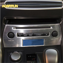 AOSRRUN Stainless steel control CD panel decorative laminated in car CD panel sequins Suitable for Lexus
