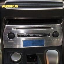 AOSRRUN controllo in acciaio inox pannello CD pannello decorativo laminato in-car CD paillettes Adatto per Lexus NX200 NX200T NX300H