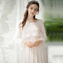 New Arrival Sweet Pregnant Women LACE Princess Nightgown font b Ladies b font Vintage font b