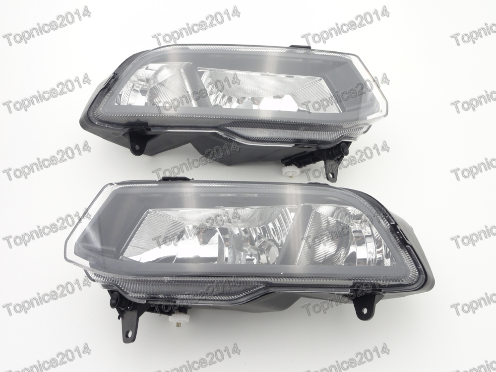 1Pair Replacement Front Fog Light Lamps For Volkswagen Polo 2014-2016 Hatchback