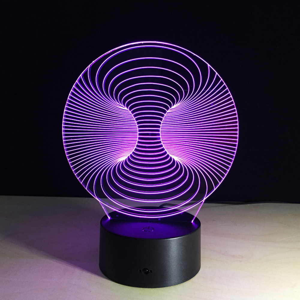 Colorful Abstract Lamp Creative 3D Night Light USB Table Desk Lam Bedroom Reading Nightlight Children Gift abstract 3d creative colorful nightlight