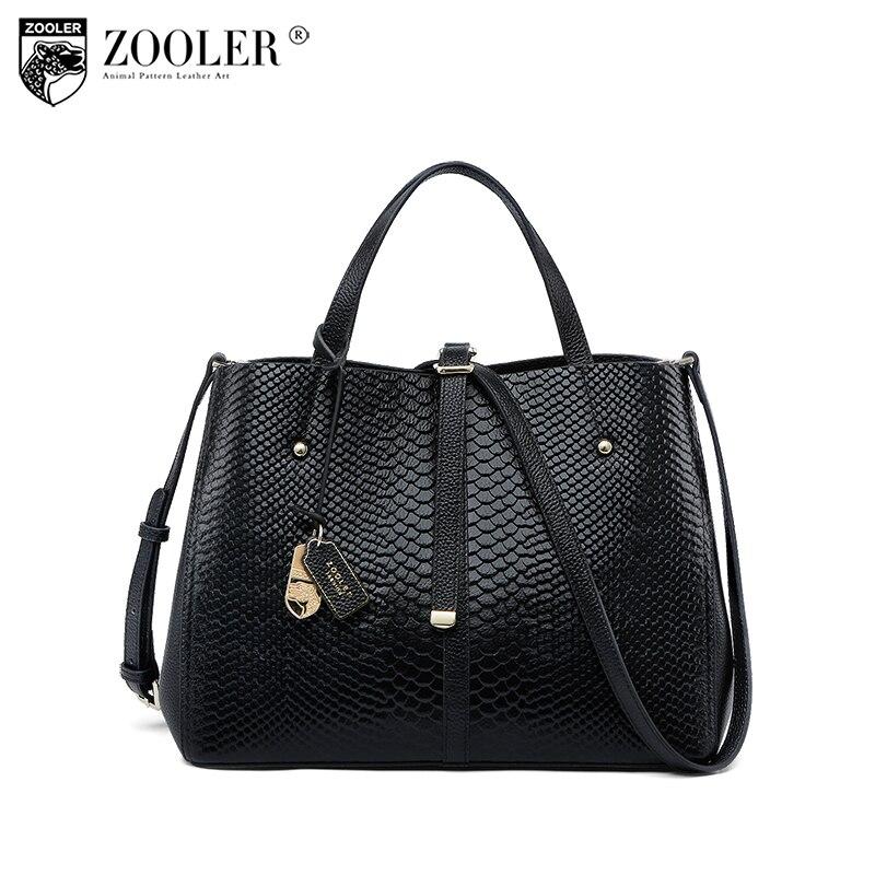 2018 Cowhide leather bag ZOOLER shoulder messenger bag Genuine leather bag handbag luxury women bags bolsa