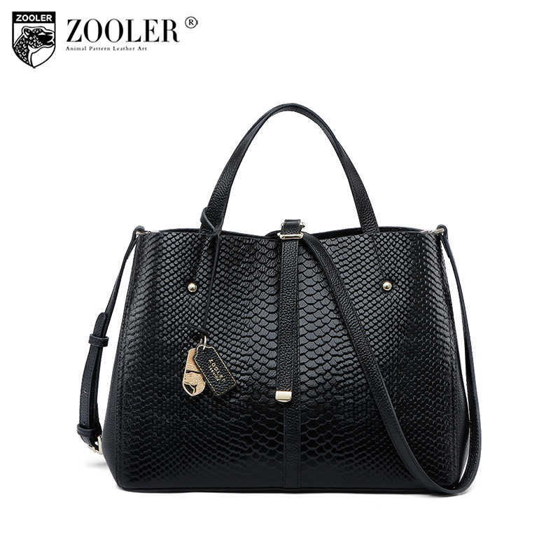 2018 Cowhide leather bag-ZOOLER shoulder messenger bag Genuine leather bag  handbag luxury women bags 3390446935b95