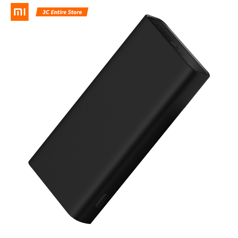 Original 2019 NEW <font><b>Xiaomi</b></font> <font><b>Mi</b></font> <font><b>20000mAh</b></font> Power Bank 3 Pro/ <font><b>2C</b></font> USB-C 45W Portable Charger Dual USB <font><b>Powerbank</b></font> for Laptop Smartphone image