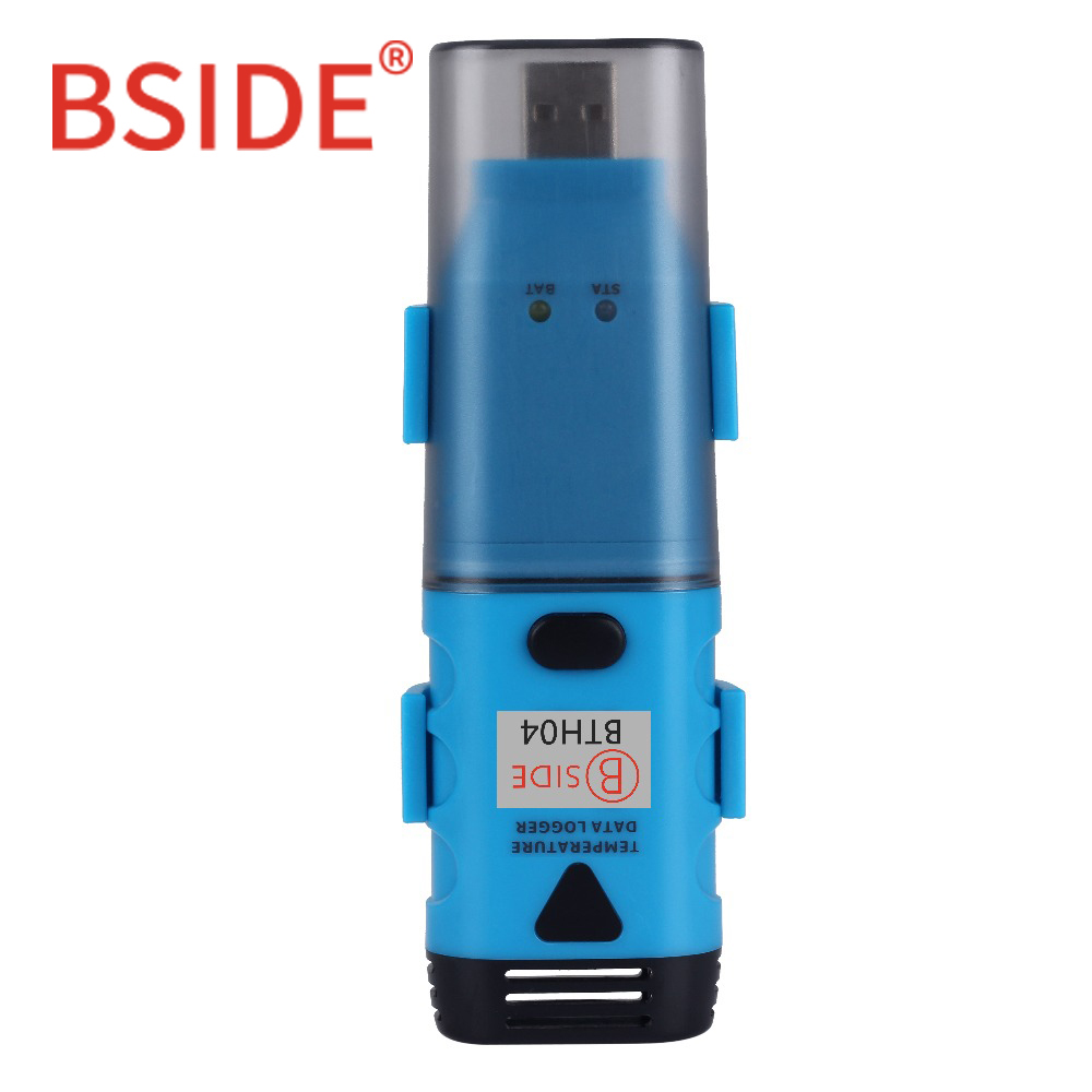BSIDE BTH04 USB Single-Channel Temperature Data Logger Temp Waterproof Recorder with 3.6V Lithium Battery dtu1706 waterproof pdf disposable usb 2 0 temperature data logger for biological medicine chemical industry