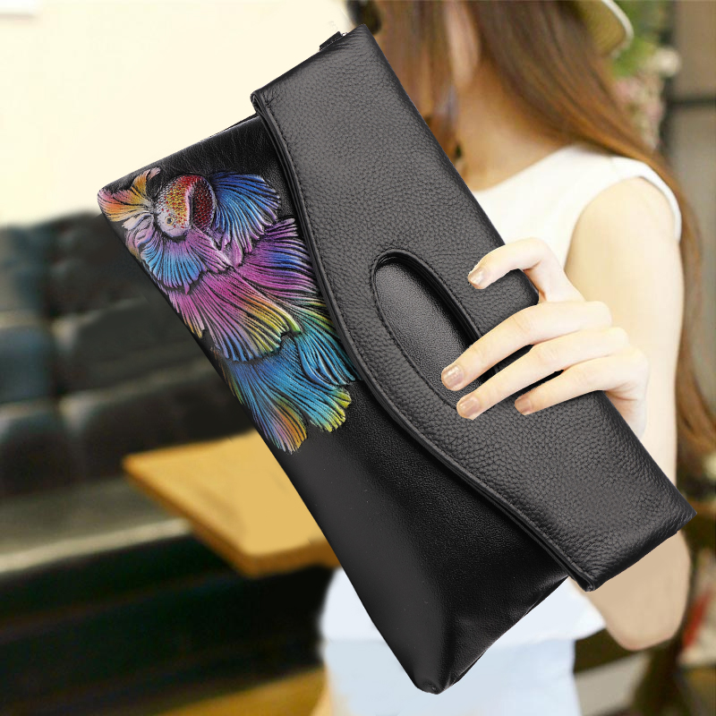 2018 New Arrivals Fashion Clutch Wallet Soft Top Leather Fold Handbag Elegant Women Banquet Envelope Shoulder Bag Big Purse Gift2018 New Arrivals Fashion Clutch Wallet Soft Top Leather Fold Handbag Elegant Women Banquet Envelope Shoulder Bag Big Purse Gift
