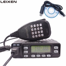 자동차 라디오 LEIXEN VV 898 25W 듀얼 밴드 144/430MHz 모바일 트랜시버 아마추어 햄 라디오 + USB 프로그래밍 케이블 Leixen UV 25HX