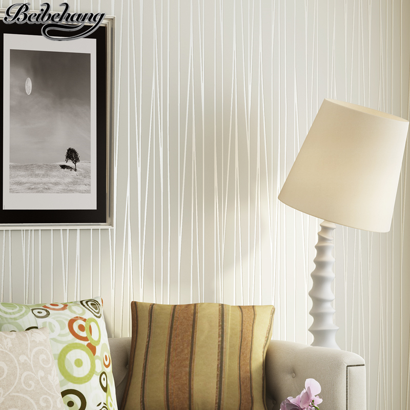 beibehang Modern simple solid color striped wallpaper living room TV background bedroom non-woven wallpaper papel de parede beibehang suede wallpaper striped wallpaper bedroom living room tv background wall paper modern minimalist non woven wallpaper