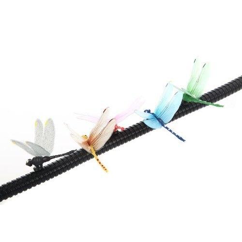 GSFY-5pcs 8cm 3D Artificial Dragonflies Luminous Fridge Magnet for Home Christmas Wedding Decoration, Colors Randomly Send 4