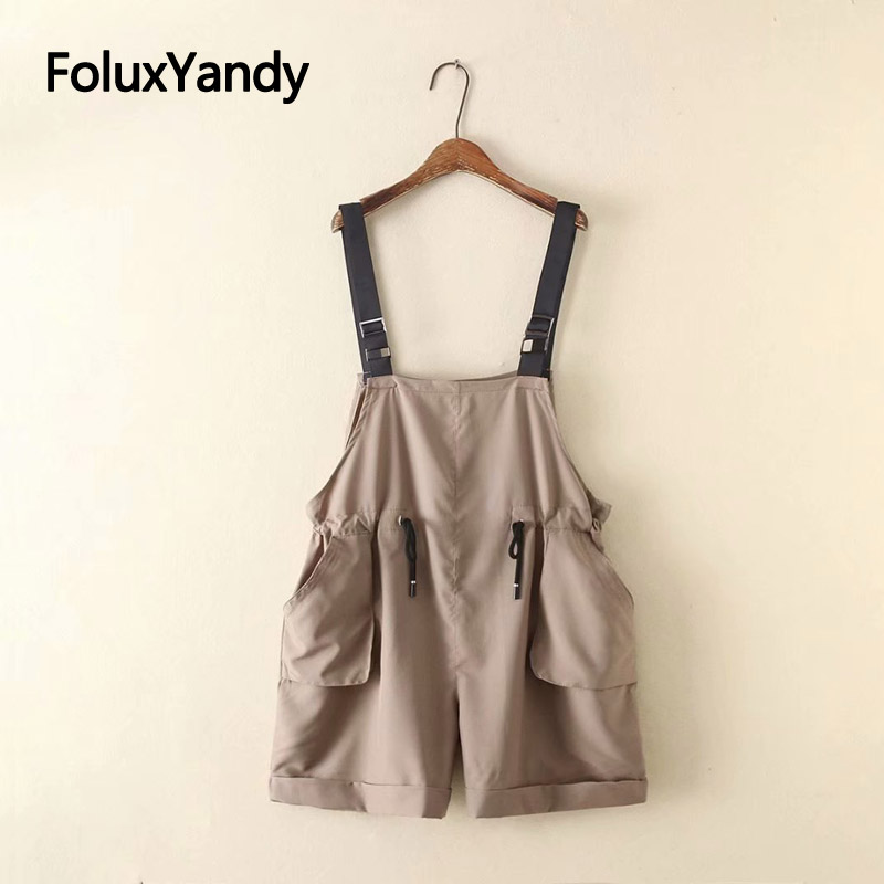Overalls Shorts Summer Style Women Casual Suspenders Adjustable High Waist Loose Cargo Shorts Plus Size KKFY3609 in Shorts from Women 39 s Clothing