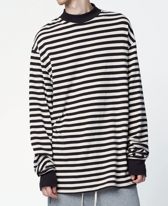 de342fa25 Men oversized black white stripe long Sleeve T shirt streetwear hip hop  plus striped tee-in T-Shirts from Men's Clothing on Aliexpress.com |  Alibaba Group