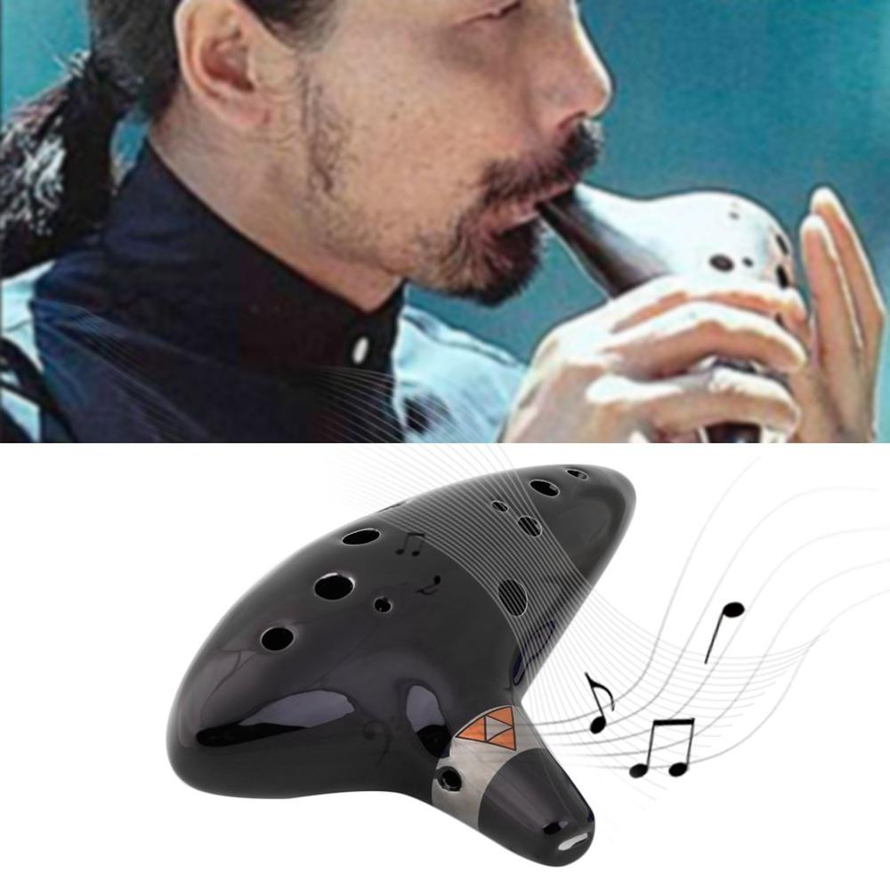 12 Hole Ocarina Instrument Keramische Alto C Legend Of Zelda Ocarina Flute With Rope Music Instrument Russian Warehouse