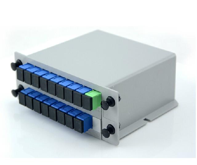 Divisor PLC 1X16 monomodo SC UPC Fibra Óptica Caja 1x16 PLC Divisor FTTH PLC Splitter 1x16 con SC/UPC conector