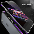 Novo projeto original de alumínio fino caso bumper luxo para iphone 7 case para iphone 7 plus caso quadro de alumínio do metal ouro negro
