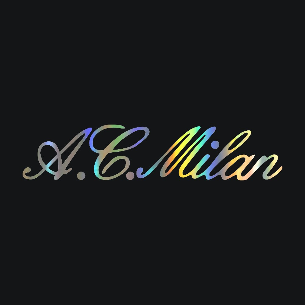 A.C Milan Car//Window Stick On Mini Kit Official Merchandise