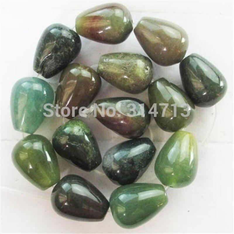ộ_ộ ༽(Min. order 10 $ MIX) 1 hermoso indio piedra teardrop grano ...