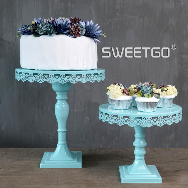 Blue Tall Cake Stands Wedding Cake Decoration Baking Home Supplies     Blue Tall Cake Stands Wedding Cake Decoration Baking Home Supplies Coffe  Shop Cake Display Holder Birthday