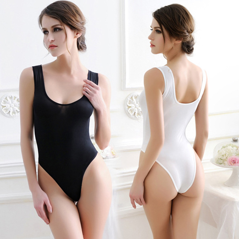 Light Breathable Sexy Swimsuit Women Padded Suit See through Underwear High Elasticity Conjoined Vest Pulling Soft Bathing Suit in Body Suits from Sports Entertainment
