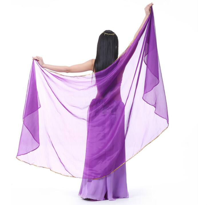 2018 new Belly Dance veil Belly Dance scarf Accessories Bellydance Veil -Veils-Belly-Dance 250*120cm