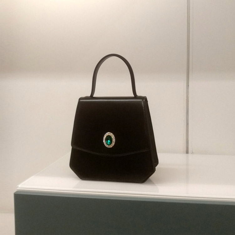 Conception Unique de concepteur Vintage femmes diamants noir sacs à main dame PU en cuir Messenger épaule Mini sac OL sacs sac à bandoulière - 3