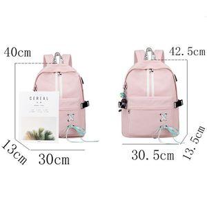 Image 4 - Tourya Fashion Anti Theft Reflective Waterproof Women Backpack USB Charge School Bags For Girls Travel Laptop Rucksack Bookbags