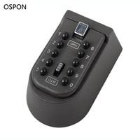 OSPON Wall Mounted Key Safe Box Storage Organizer Box Combination Lock 10 Digital Password Weatherproof Cover
