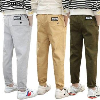 ab3c3905 2019 весенне-осенние повседневные штаны для мальчиков длинные штаны для  детей, Молодежные детские брюки