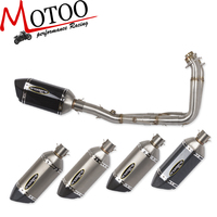 Motoo Motorcycle Modified Stainless Steel carbon Exhaust Muffler with Full System Connecting pipe For YAMAHA YZF R6 R6 06 17