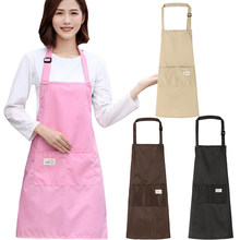 Tablier de cuisine réglable pour femmes pour la cuisson tablier de cuisine Barista rose tabliers de serveuse Ladys pinabefore épaissir tablier de Restaurant(China)