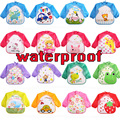 2017 Baby Feeding Bib Long Sleeve Apron Boy and Girl Eating Bandana Dribble Bibs Drool Waterproof Newborn Clothes Scarf Silicone