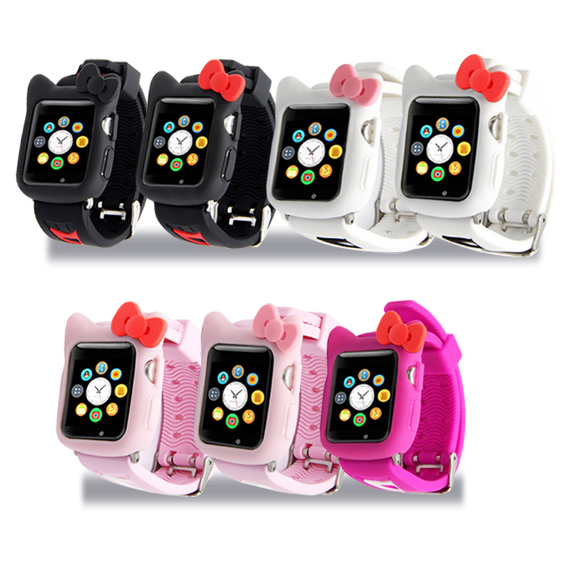 Lovely Soft Silicone Hello kitty Apple Watch Band Case 2