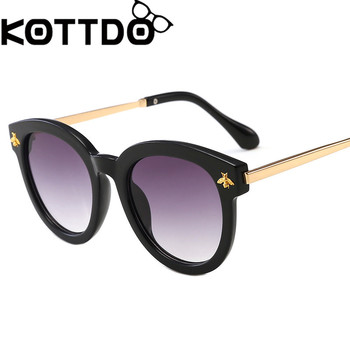 KOTTDO Kids Sunglasses  Metal Bee Round Sun Glasses Vintage Baby Sunglasses For Girls Boys lunette de soleil