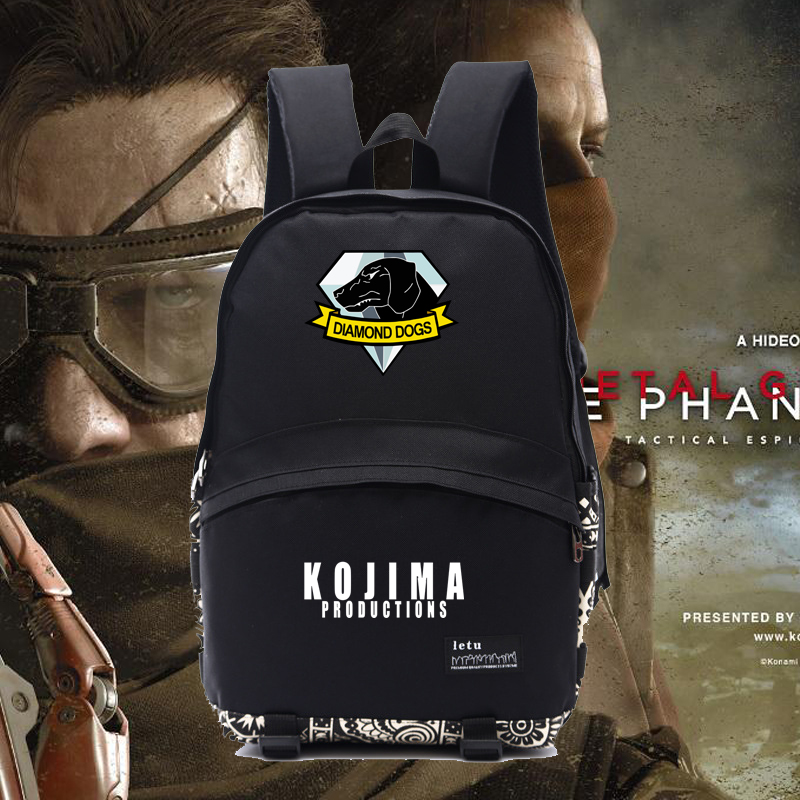 Popular game backpacks Metal gear solid/metal gear solid 5/MGS 5 backpacks diamond dogs backpack NB014