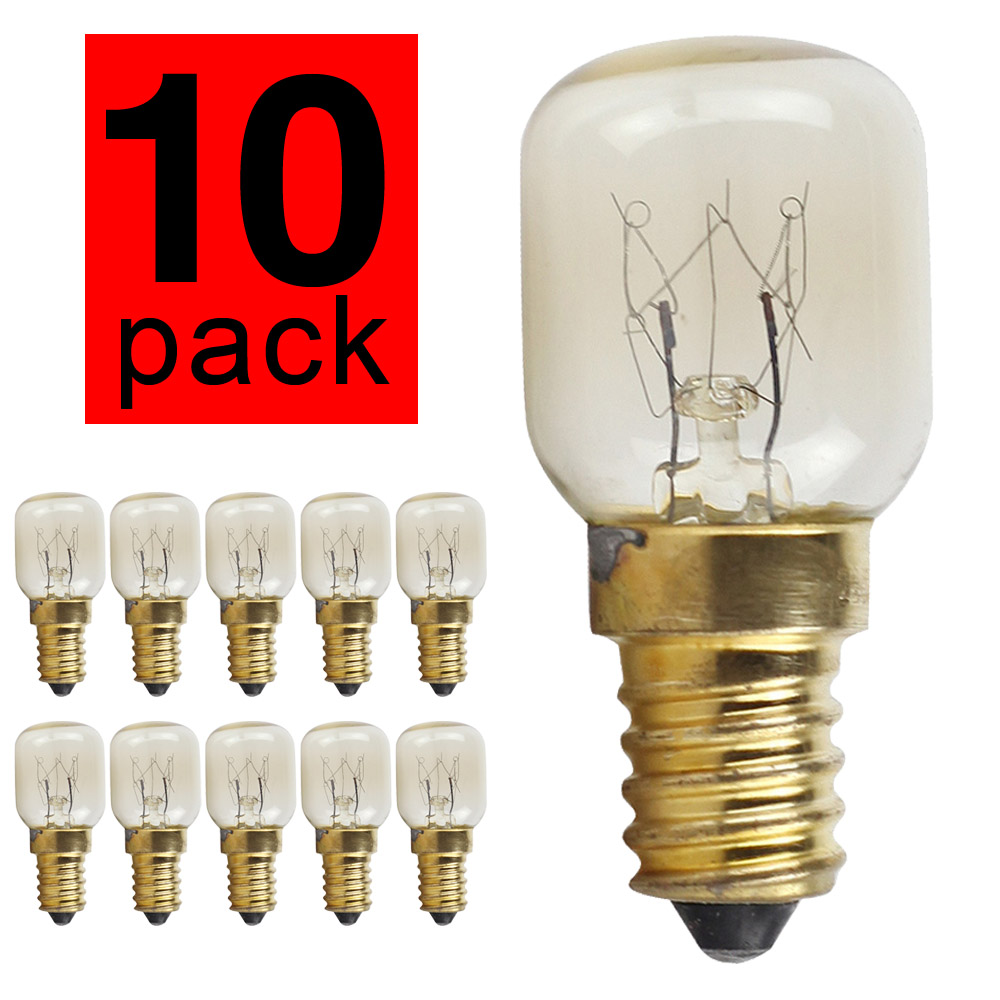 Beautiful 1 Piece New Small Screw E14 25w 220v 300 Degree High Temperature Light Bulb Oven Microwave Light Bulb Kitchen Appliance Parts Home Appliance Parts